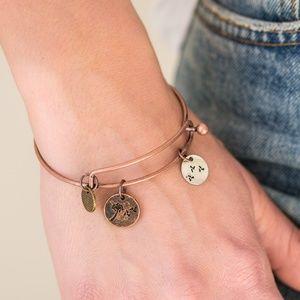 """""""Dreamy Dandelions"""" - Adjustable Bangle Bracelet"""